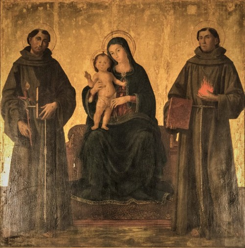 Antoniazzo Romano, Madonna Enthroned with the Infant Christ and Saint, Church of Sant'Antonio dei Portoghesi
