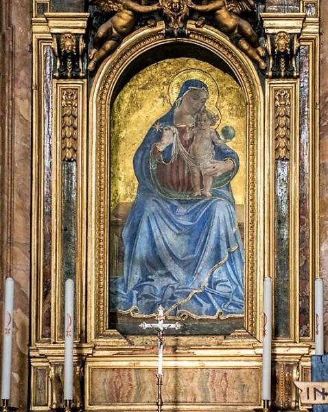 Antoniazzo Romano, Madonna z Dzieciątkiem, ołtarz kościoła Santa Maria della Consolazione