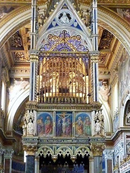 Antoniazzo Romano, malowidła cyborium, bazylika San Giovanni in Laterano