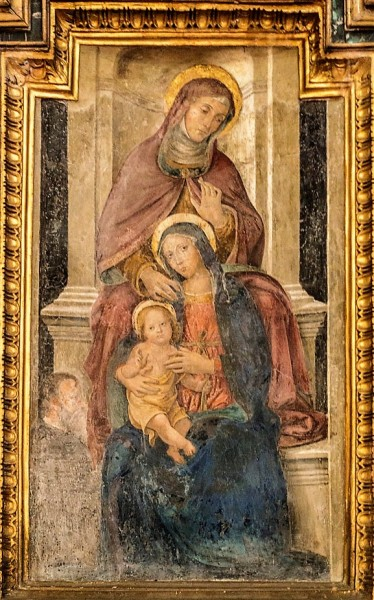 Antoniazzo Romano, The Virgin and Child with St. Anne, Church of San Pietro in Montorio