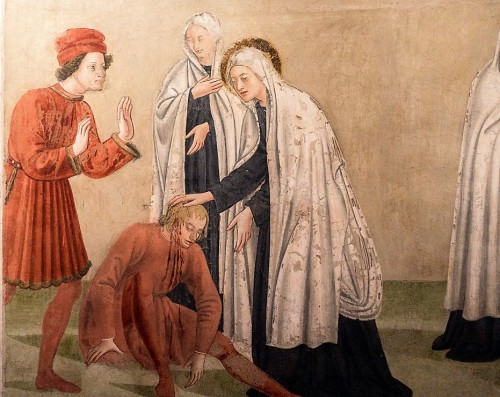 Antoniazzo Romano, św. Franciszka Rzymska uzdrawiająca chorego, Convento delle Oblate di Tor de Specchi