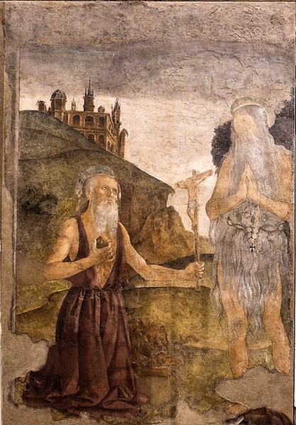 Antoniazzo Romano, Saint Jerome in the Wilderness, Chamber of St. Catherine, Dominican monastery next to the Basilica Santa Maria sopra Minerva