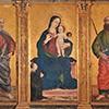 Antoniazzo Romano, Madonna między św. Pawłem i św. Piotrem, kaplica Santa Croce, bazylika San Pietro in Vaticano, zdj. Wikipedia