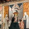 Antoniazzo Romano, sceny z życia św. Franciszki Rzymskiej, Convento delle Oblate di Tor de Specchi