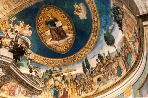 Legenda Świętego Krzyża, Antoniazzo Romano, absyda bazyliki Santa Croce in Gerusalemme