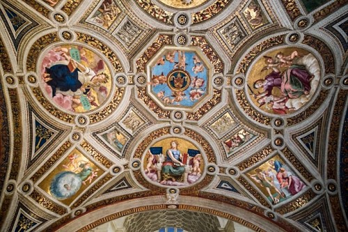 Stanza della Segnatura, sklepienie, Pałac Apostolski