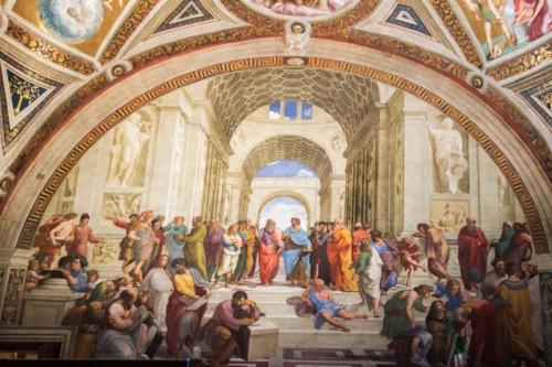Szkoła Ateńska, Rafael, apartamenty papieskie (Stanza della Segnatura), Pałac Apostolski