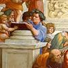 Rafael, Szkoła ateńska, fragment, Epikur z Samos, apartamenty Juliusza II, Pałac Apostolski, zdj. Wikipedia