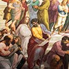 Rafael, Szkoła ateńska, fragment, Michał Anioł jako Heraklit (po prawej), Pałac Apostolski
