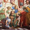 Szkoła ateńska, fragment, Donato Bramante jako Euklides, Rafael, Pałac Apostolski