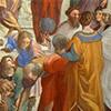 Szkoła Ateńska, Rafael, Euklides (rysujący), Ptolemeusz (z globusem), Zaratustra (z kulą nieba), apartamenty Juliusza II, Pałac Apostolski