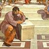 Szkoła ateńska, Rafael, fragment, Heraklit i Diogenes (po prawej), apartamenty Juliusza II, Pałac Apostolski
