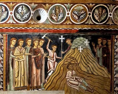 Cesarzowa Helena poszukuje św. Krzyża w Jerozolimie, Oratorium San Silvestro przy kościele Santi Quattro Coronati