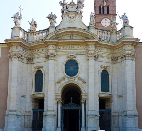 Façade of the Basilica of Santa Croce in Gerusalemme