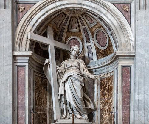 Statue of St. Helena, Andrea Bolgi, Basilica of San Pietro in Vaticano