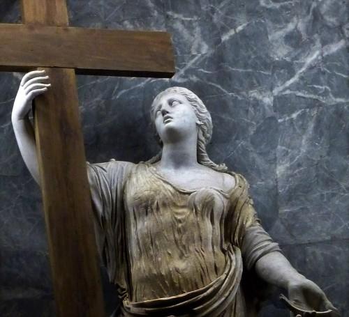 Statue of St. Helena, fragment,  Chapel of St. Helena, Basilica of Santa Croce in Gerusalemme