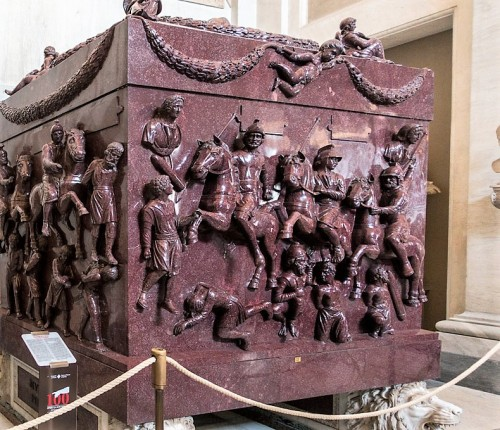 Sarcophagus of Helena, mother of Emperor Constantine the Great, fragment, Musei Vaticani