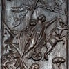 Cyprysowe drzwi (jedna z kwater) powstałe w czasach papieża Celestyna I,bazylika Santa Sabina