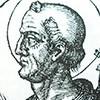 Papież Celestyn, rycina z Le vite dei pontifici, 1710, Bartolomeo Platina