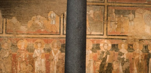 Series of paintings depicting popes in the Church of Santa Maria Antiqua, Pope Alexander I – third from the left