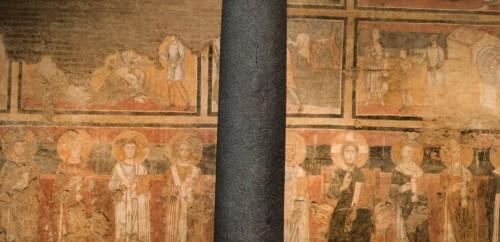 Cykl malowideł przedstawiający papieży (Aleksander I - trzeci od lewej) w kościele Santa Maria Antiqua, Forum Romanum