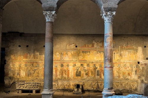 Series of paintings depicting popes in the Church of Santa Maria Antiqua