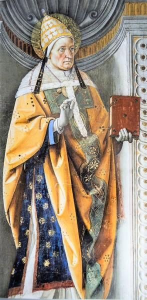 Pope Alexander I, Pietro Perugino, decoration between the windows, Sistine Chapel