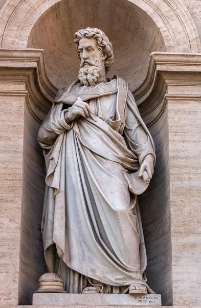 Papież Aleksander I, posąg w arkadzie bramy Porta Pia