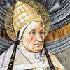 Papież Aleksander I, Pietro Perugino, dekoracja międzyokienna,Kaplica Sykstyńska, fragment