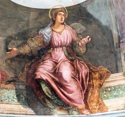 Święta Balbina, fresk w absydzie kościoła Santa Balbina, fragment