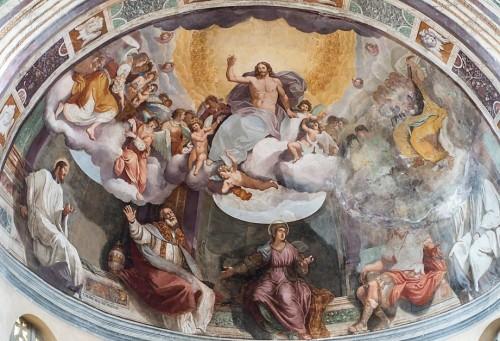 Kościół Santa Balbina, absyda, Anastasio Fontebuoni - Chrystus między świętymi, u doły św. Balbina