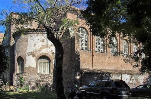 Church of Santa Balbina, exterior body and church apse