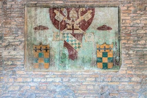 Church of Santa Balbina, coat of arms of Pope Innocent VIII in the church vestibule