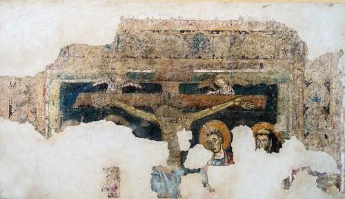Kościół Santa Balbina, jeden ze średniowiecznych fresków
