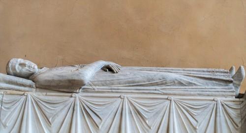 Church of Santa Balbina, tombstone of Stefano de Surdis, fragment
