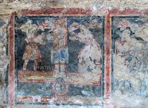Kościół Santa Balbina, Ukrzyżowania św. Piotra (szósta nisza po lewej)