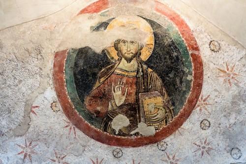 Church of Santa Balbina,  medallion with Christ (third niche on the left)