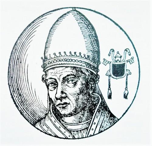 Papież Stefan VI, rycina z Le vite dei pontifici, 1710, Bartolomeo Platina