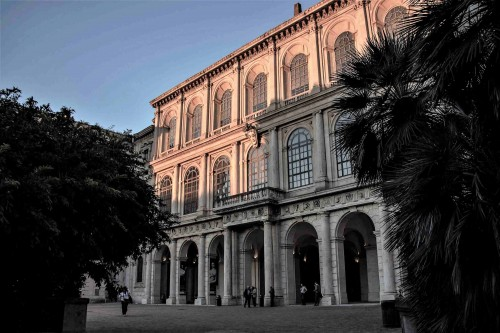 Palazzo Barberini, Barberini family residence, main façade seen from the street