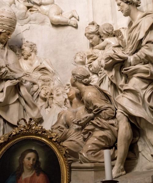 Śmierć św. Cecylii, Antonio Raggi, fragment, kościół Sant'Agnese in Agone