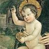 Dzieciątko, fragment fresku, Pinturicchio, kelekcja Fondazione Guglielmo Giordano, Perugia