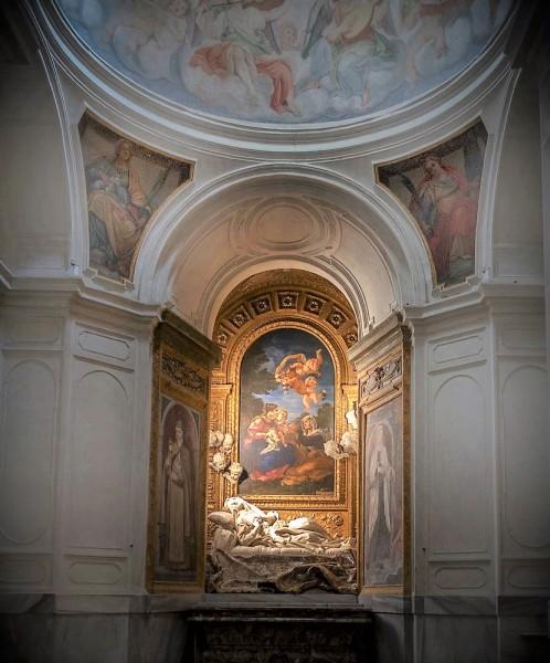 Kaplica Altieri, kościół  San Francesco a Ripa, posąg błogosławionej Ludwiki Albertoni, Gian Lorenzo Bernini