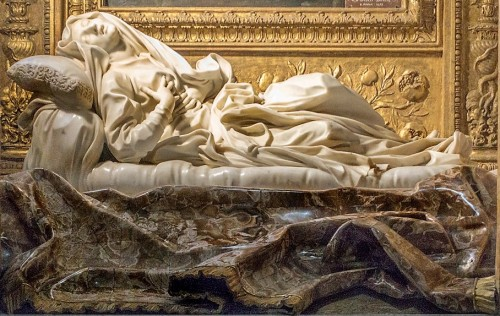Posąg błogosławionej Ludwiki Albertoni, Gian Lorenzo Bernini, kościół  San Francesco a Ripa