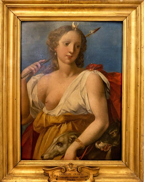 Giuseppe Cesari (Cavalier d'Arpino), Diana na łowach, Musei Capitolini - Pinacoteca Capitolina