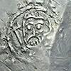 Srebrna moneta papieska z czasów papieża Agapita II i Alberyka II