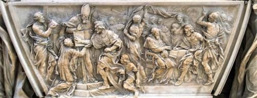 Pomnik nagrobny papieża Leona XI, fragment, Alessandro Algardi, bazylika San Pietro in Vaticano