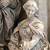 Pomnik nagrobny papieża Leona XI, fragment, Alessandro Algardi, alegoria Hojności - Giuseppe Peroni, bazylika San Pietro in Vaticano