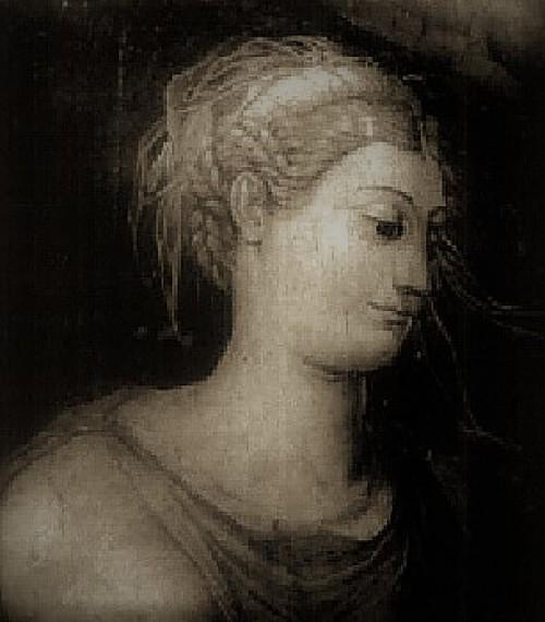 Domniemany portret Silvii Ruffini, dekoracje ścienne, Palazzo Rondanini (siedziba syna -Tiberio Crespiego)