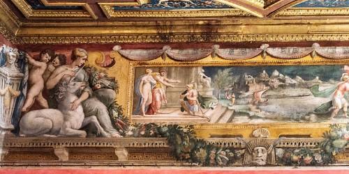 Sala Perseusza, zamek Sant'Angelo, fryz z domniemanym wizerunkiem Silvi Ruffini