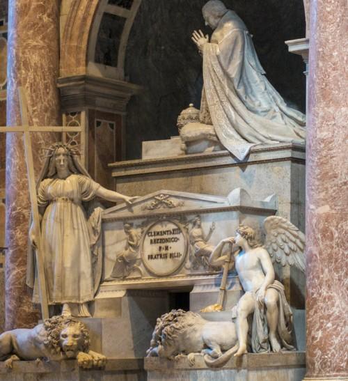 Pomnik nagrobny papieża Klemensa XIII, Antonio Canova, bazylika San Pietro in Vaticano